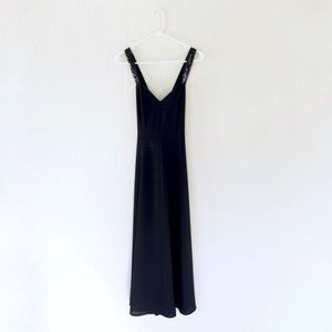 vintage 1990s Rampage gown black sequin 90s dress